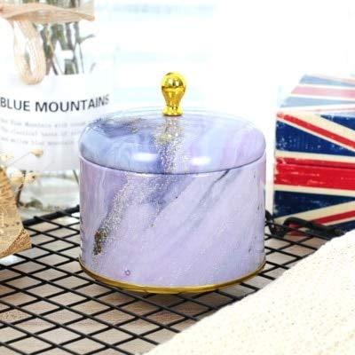 N / A Neue europäische Retro High-End Kerze Aromatherapie handgemachte Seife Verpackungsbox Runde Eisen Box Tee Süßigkeiten Schmuck Aufbewahrungsbox Geschenke ohne Deckel 8,5x6,5CM