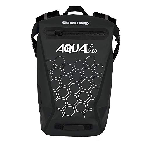 Oxford Aqua V 20 Extreme Visibility Waterproof Reflective Backpack - Black