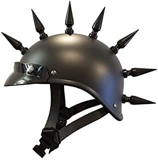 Voss flat black gladiator helmet (extra large with 7 spikes)