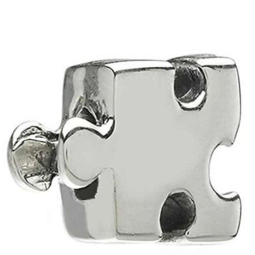 Abalorio, diseño de pieza de puzzle para cadena de serpiente para mujer
