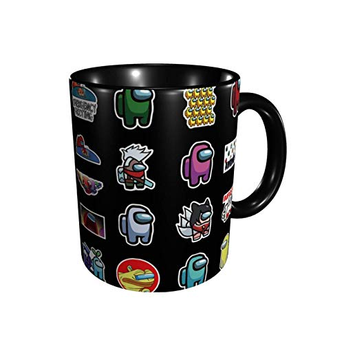 DJNGN Am-on-g U-s 5 Taza de cerámica Taza de café Taza de té Capacidad para oficina y hogar 11 oz