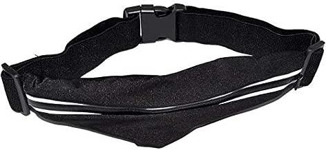 حقيبة رياضية صغيرة مناسبة للارتداء اثناء الركض بتصميم حزام لحمل النقود والهاتف المحمول والمفاتبح - رمادي وازرق