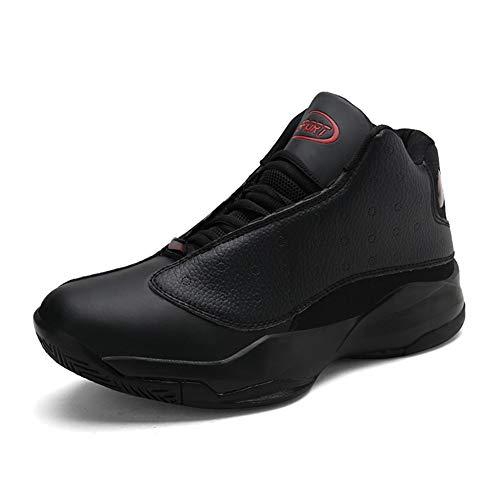 GPF-fei Herrenschuh Spitze auf Schuh Runde Zehe Schuh Running Schuh geeignet für Sport komfortabel Fashion Breathable Leisure,Black,43