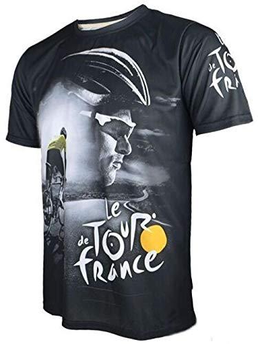 Heiße Verkaufende Tour Der France Hochwertiger Bunt Radtrikot Nur Sportbekleidung Aus Schönen Materialien Einiger Größen Hergestellt Zzzb (Color : Black, Size : M)