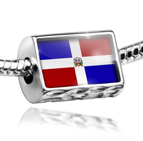 NEONBLOND Charm Dominican Republic Flag - Bead Fit All European Bracelets