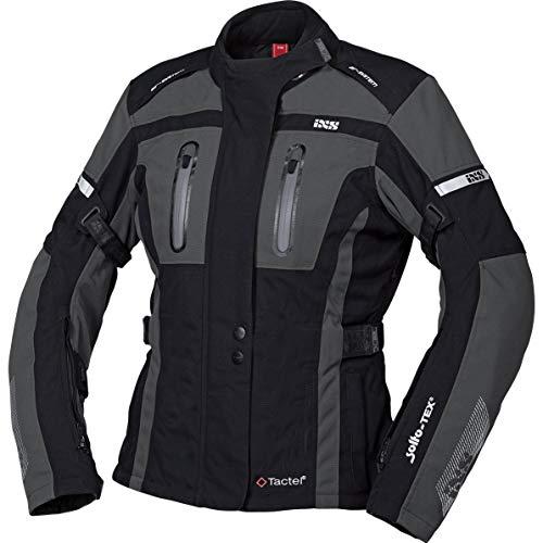 IXS Pacora-ST - Chaqueta de moto con protectores para mujer, color negro/gris, M, Tourer, para todo el año, poliamida