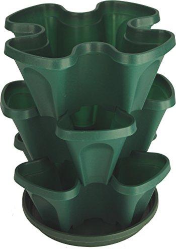 Mr. Stacky Self Watering 3 Tier Stackable Garden Vertical Plastic...