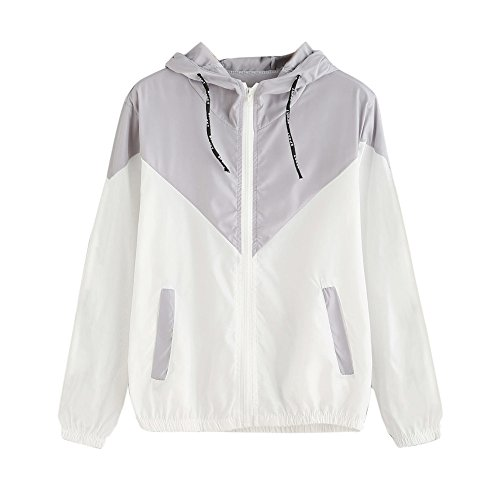 Buy Bargain Women's Zipper Jacket,Ladies Drawstring Hooded Long Sleeve Patchwork Pockets Loose Coat ...