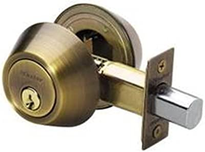 Master Lock DSO0705 Double Cylinder Deadbolt with SilvaBond Antimicrobial Finish, Antique Brass