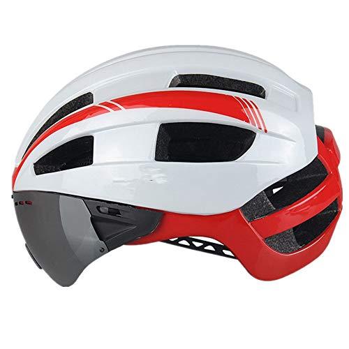 Zhanghanzong-Belt Cascos de Ciclismo Todo Terreno Casco de Ciclismo con Gafas Casco...