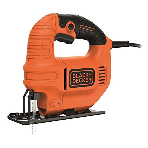 BLACK+DECKER KS501-QS Seghetto Alternativo Compatto in Cartone + 1 Lama, 400 W, 400W