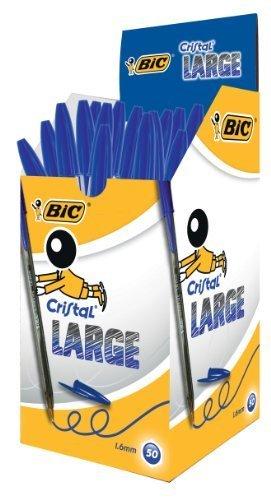 BIC CRISTAL LARGE 1.6MM BLUE 880656 by BIC