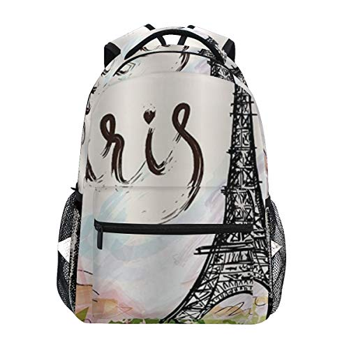 SINOVAL Laptop Bag Watercolor Urban Outfitters Hand Drawn Colorful Paris Eiffel Tower Architecture City Scenery