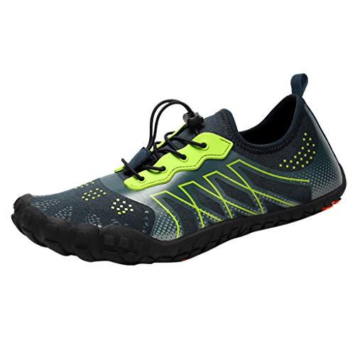 Zapatillas Impermeables para Hombre LANSKIRT Pareja Unisex Zapatos de Agua de Secado Rápido Calzado con Cordón para Nadar En Playa de Piscina Zapatillas de Buceo Creek