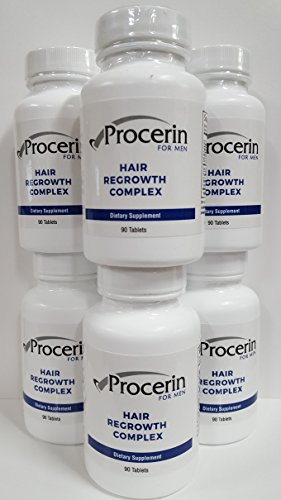 Procerin Tablets Hair Re Growth for Men, 6 - 90 tablet Bottles