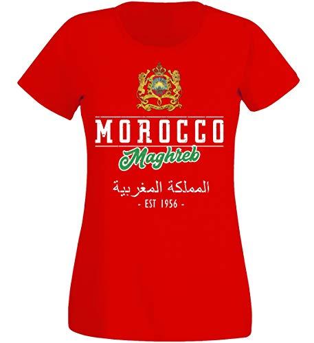 aprom dames T-shirt Marokko rood NC02 - WM World Cup