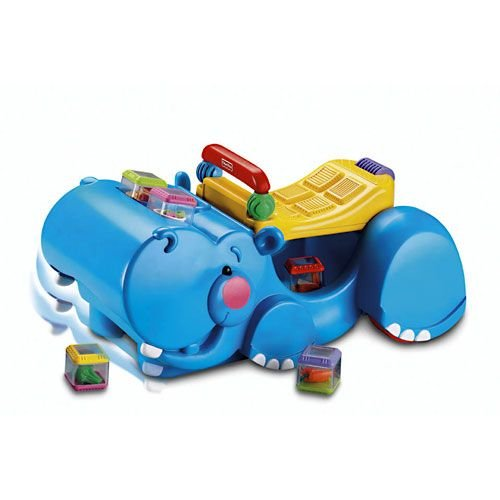 Fisher Price Peek-A-Blocks Hipopótamo Andador Traga-Bloques