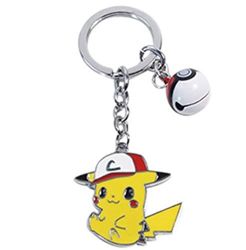 Schlüsselbund Schlüsselanhänger Pokemon Pikachu Metall Kleine Anhänger Elf Ball Glocke Schlüsselbund Schlüssel Ring