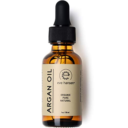 Organic ARGAN Oil 30ml - Naturally Rich in Anti-Aging VITAMIN E - 100% Pure & Certified - SEE RESULTS OR MONEY-BACK - For NATURAL Face Moisturizing, Hair Treatment, Skin & Nail Care by Eve Hansen