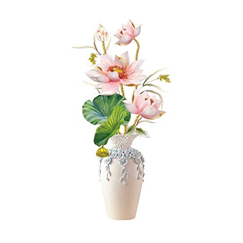 VGFDE 61 * 125cm Flower Wall Etiqueta engomada Florero Cubierta Frigorífico Portada Pegatinas Adolescente Decoración de la Sala Estética Decoración de la Pared 3D Papel Tapiz Cartel