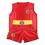 Yudesun Sanda Boxeo Artes Marciales Ropa Niños Adulto Unisex - Judo Rendimiento Muay Thai Karate Kungfu Performance Escenario Estilo Chino Traje Lucha Rojo 150cm