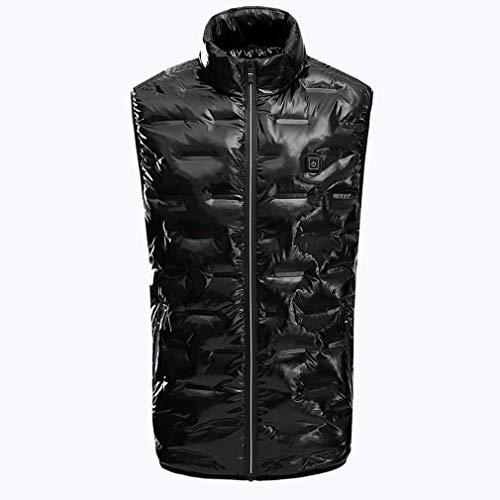 Elektrische jas, mannen wasbaar verwarmingskleding vest, via USB oplaadbare verwarming lichaamswarmer gilet met 3 temperatuur voor outdoor skiën en kamperen