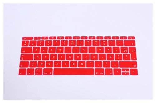 Easy to use UK EU French Silicone Keyboard Cover Skin For MacBook New Pro 13' A1708 (2016 Version,No Touch Bar) for 12' A1534 Retina Keybaord Skin Protector (Color : Red)