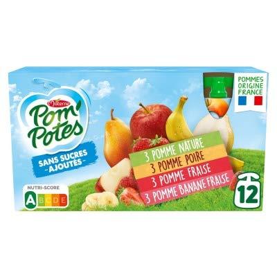 Materne Spécialité de pomme sans sucres ajoutés, 4 assortiments - Les 12 gourdes de 90g