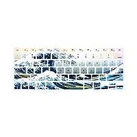 ファッションシリコンキーボードカバースキンfor for for MacBookAir 13、for for for MacBook Pro 13/15/17 Pro -Black