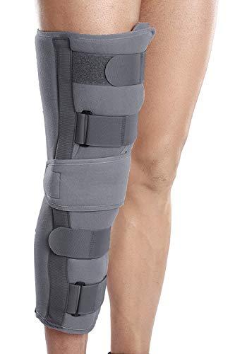 """Wonder Care Rodillera inmovilizador para soporte de rodilla para lesiones dislocadas, ligamento desgarro envolvente (L: 15.6 """"-17.2 pulgadas)"""