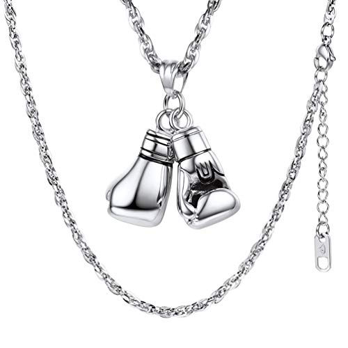 PROSTEEL Men Boxing Glove Pendant Necklace 316L Stainless Steel Chain Hip Hop Gym Jewelry Boyfriend Gifts