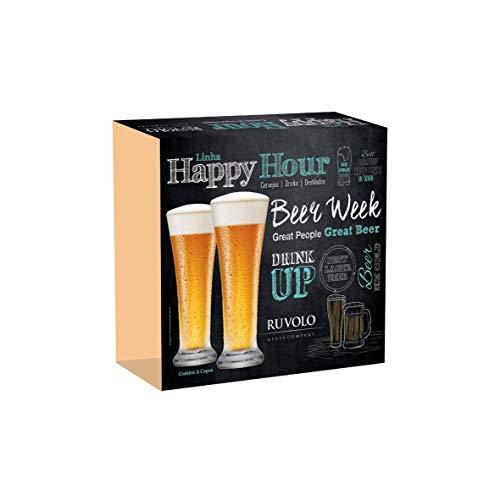 Jogo de Copos de Cerveja Pilsen de 275ml 2 Peças, Ruvolo