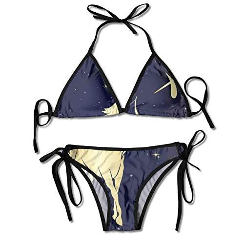 Dreieck Bikini Badeanzüge Sternennacht mit Sternbild Silhouette eines Zentauren Bikini Sets Strand Badebekleidung Badeanzug