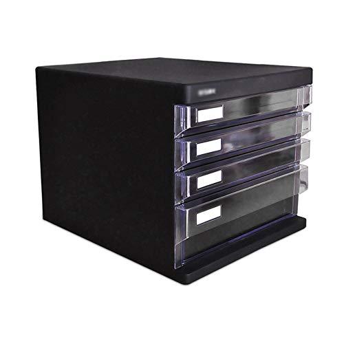 Carpeta con cremallera Gabinete de 4 capas / 5 Capa de Presentación Caja de almacenamiento de escritorio Organizador de escritorio del compartimiento Sin Bloqueo de escritorio del archivo de almacenam
