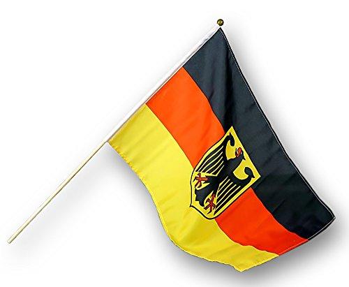Diverse 1 x Deutschland Stabfahne Fanartikel WM EM 60 x 90 cm mit Adler Fahne Fußball Flagge