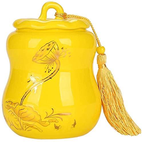 SDKFJ Urna Tanques Mini cremación urnas de cremación de Mascotas for los Animales domésticos Humana cremación urna (Color : Yellow)