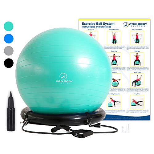 Exercise Ball Chair System - Yoga and Pilates 65...