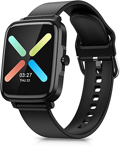 Leelbox Smartwatch Fitness Tracker, Activity Tracker Orologio Uomo Donna 1,54 Pollici Contapassi Calorie Cardiofrequenzimetro da Polso,Impermeabile IP68,Cronometro,Notifiche Messaggi per Android iOS