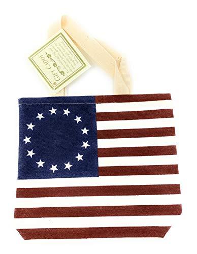 Betsy Ross Tragetasche mit amerikanischer Flagge für kleine Lebensmittel, für Gourmet-Artikel, Seifen, Notizkarten, Marmelade und mehr