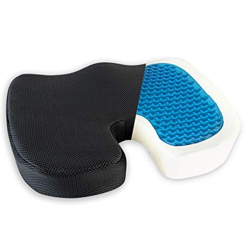Healthy Spirit Gel Enhanced Seat Cushion     Memory Foam and Gel Seat Cushion Office Chair Car Seat Cushion Coccyx, Black