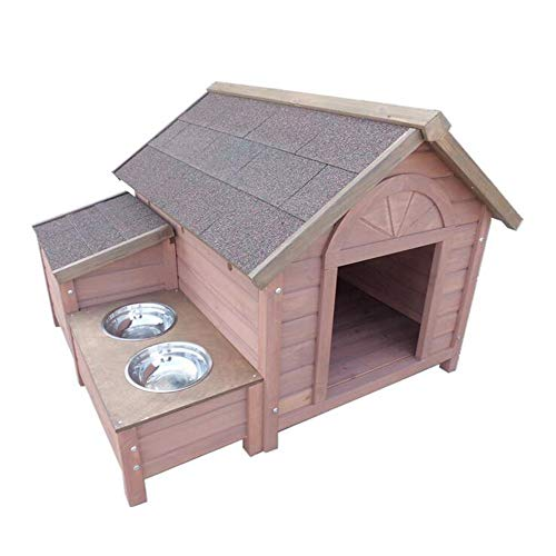 YAMEIJIA Massivholz Hundehaus Outdoor Haustier Hundehaus Hundehaus Hundeschule Holz S/l,M