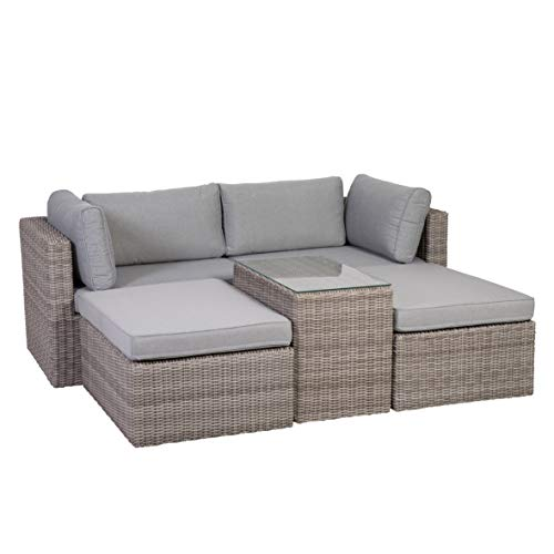 Greemotion Palma Rattan Lounge-Set, grau - 3