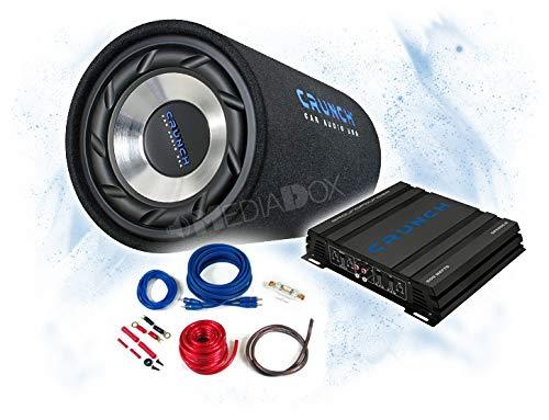 CRUNCH Basspaket 2-Kanal Endstufe/Verstärker+25cm Subwoofer+Kabel-Set - 500 Watt/GTS-250 + GPX-500.2 + REN10KIT