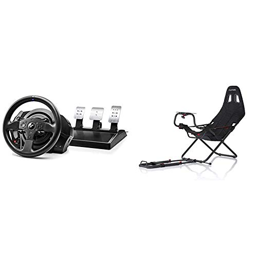 THRUSTMASTER Racing Wheel T300 RS GT T300 RS GT Edition 1 & Playseat RC.00002 Challenge Sedile da Auto per Gioco, Nero