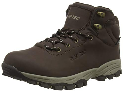 HI-TEC Romper Waterproof Junior, Chaussures de Randonnée Hautes Mixte, Marron (Dark Brown 42), 44 EU