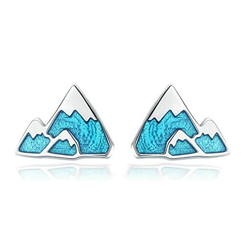Pendientes femeninos de plata pura para las orejas Iceberg sin alergia
