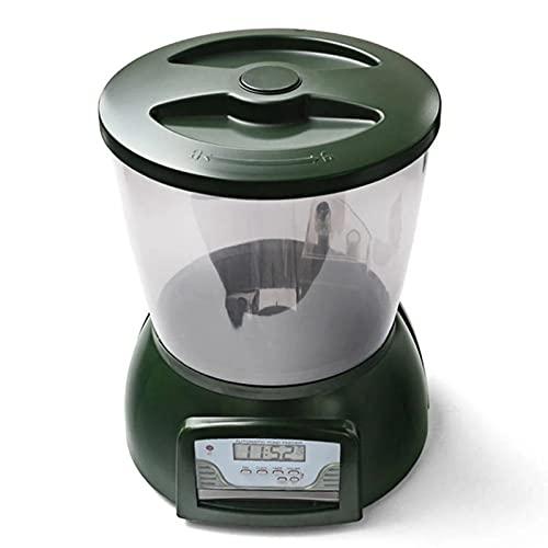 YUNDING 4.25l Alimentador Automático De Acuario Automático De 4.25l dispensador De Alimentos...