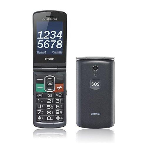 Brondi Amico N°UNO Telefono Cellulare, Titanio