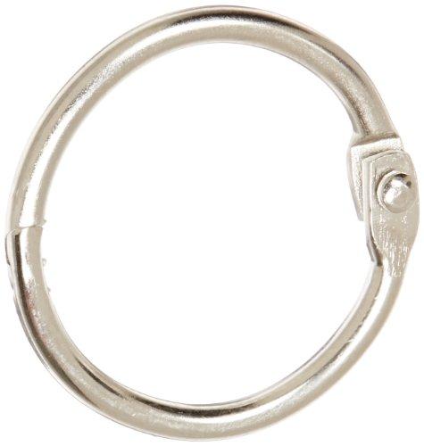 School Smart Nickel Plated Steel Loose Leaf Ring, 1 Inch, Pack of 100