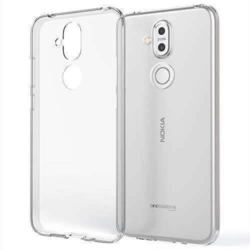 NALIA Handyhülle kompatibel mit Nokia 8.1 Hülle, Dünne Durchsichtige Silikon Schutzhülle Phone Hülle Soft Cover, Ultra-Slim Bumper Gummi Handy-Tasche Skin Etui Schale Klar Silikonhülle - Transparent